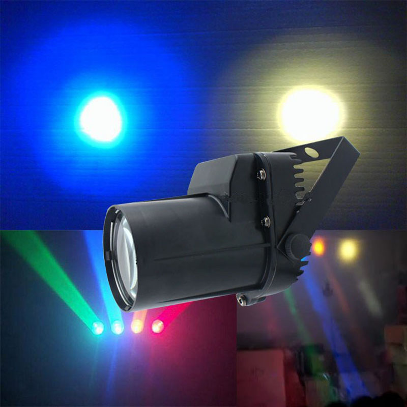 High Quality LED Single Color Beam Spotlight Spot Stage Lighting Party Show Light Mount Effect Pinspot AC 90-240V 3W