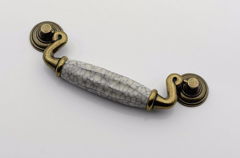Drop Bail Ceramic Dresser Drawer Pulls Bronze Rustic Kitchen Cabinet Handle Door Handle Furniture Hardware 4 25 dresser pulls drawer pull handles antique bronze bail cabinet pulls handle knobs furniture door hardware drop swing 108mm