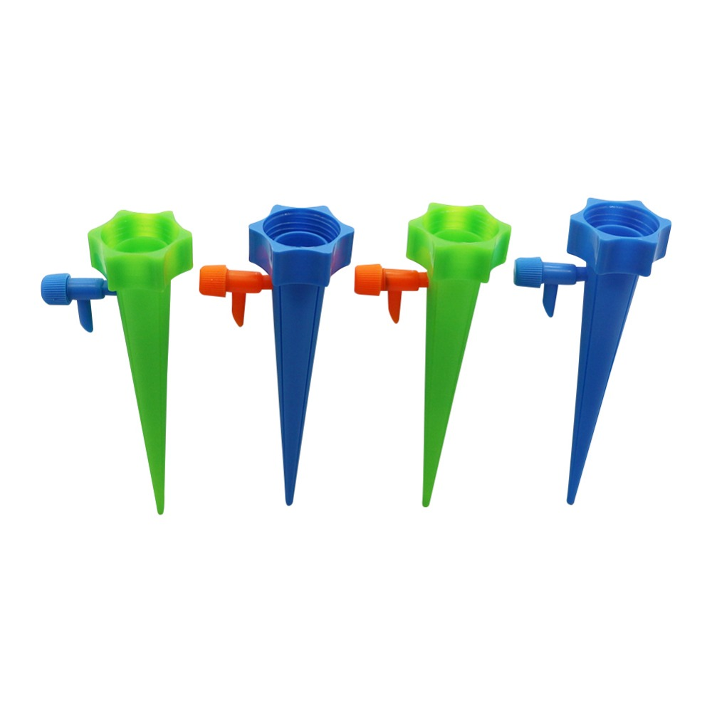 DIY Automatic Plant Waterers Drip Irrigation System Water Spikes Dripper Blue/Green Household Waterers Bottle Dripper 3 Pcs