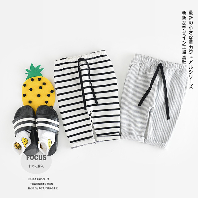 Boys And Girls Wear Striped Cotton Pants, 2017 New Spring Baby Infant Casual Pants Baby Girl Pants