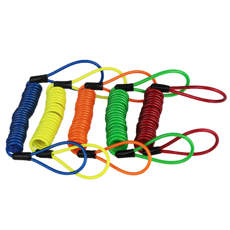 150cm Motorcycle Anti-Theft Security Alarm Wheel Disc Brake Bag Security Anti-Theft Lock Reminder Spring Cable Yellow Green Blue ...