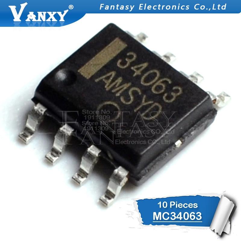 10PCS MC34063A SOP8 MC34063 SOP MC34063ADR MC34063ADR2G SMD New And Original IC