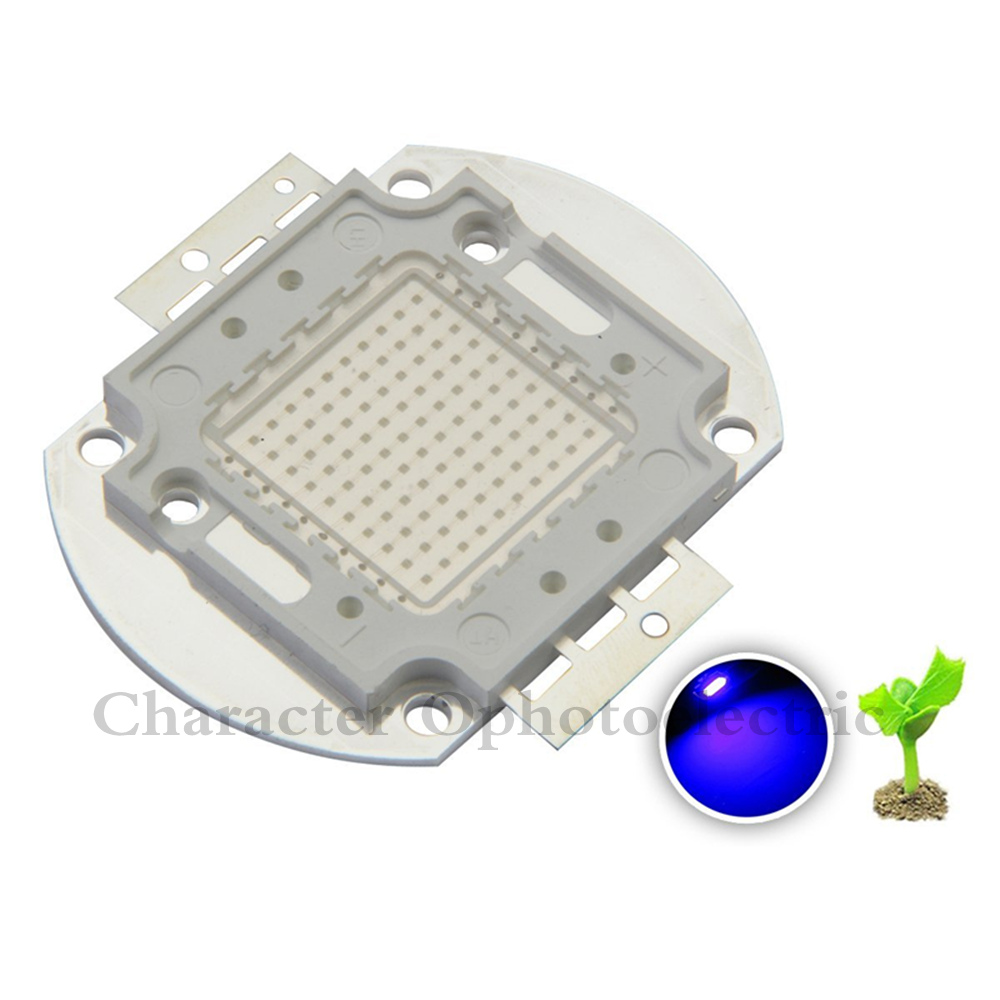 10W 20W 30W 50W 100W Royal Blue Color 445 450NM High Power LED Lamp Light For Plant Grow Light Aquarium in Light Beads from Lights Lighting