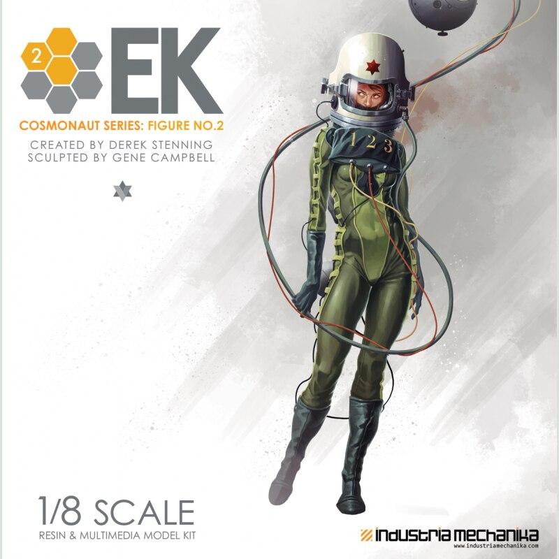 Oyuncaklar ve Hobi Ürünleri'ten Aksiyon ve Oyuncak Figürleri'de GK Garaj Reçine Şekil 1/8 Entartete Kunst Kozmonot 2 Boyasız model seti'da  Grup 1