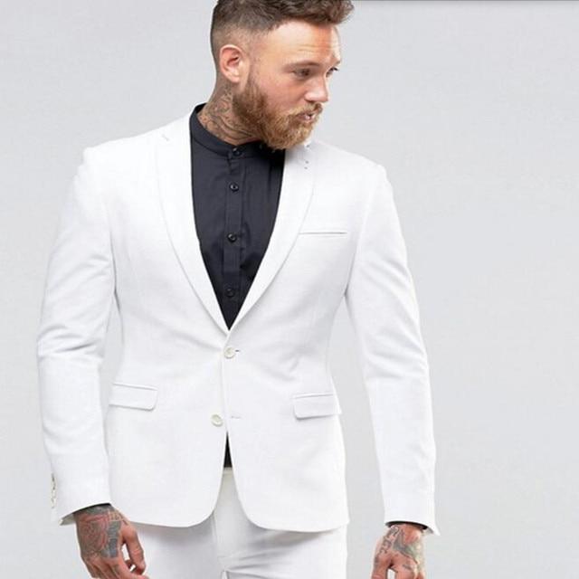 Neue Ankunft Mann Anzug Weiß Bräutigam anzüge Smoking nach maß ...
