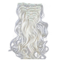 Best Sale 24 60cm 130g Long Wavy Synthetic Hair Clip In Hair Extensions Pieces 7pcs Set