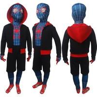Kids Boys Girls Spider Man Into The Spider Verse Superhero Cosplay Halloween Costume Full Set X