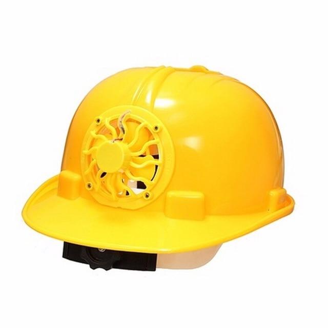 Creative Solar Fan Helmet Outdoor Solar Powered Cooling Fan Bike Cycling  Safety Helmet Hard Ventilate Cool 1fcbcfb0fbe