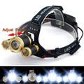 Zoomable 3 mode 6000LM CREE XML T6+2R5 3LED Headlight,Headlamp,Fishing,Head Lamp Light Flashlight
