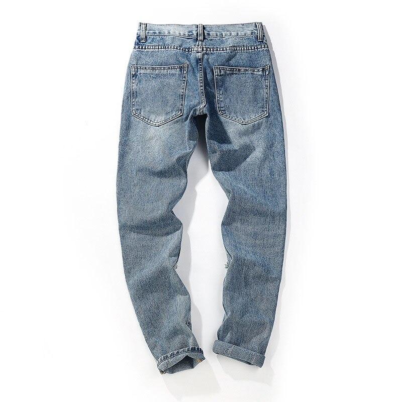 buraco reflexivo denim calças jeans magros do