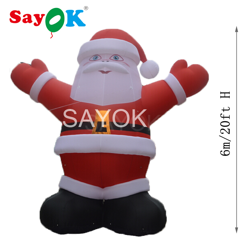 High Quality Giant Inflatable Santa Claus 6m/20ft High Christmas Decorations for Big Promotions or Advertising Decorations
