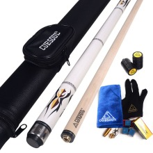 Cuesoul White 58 Billiard Pool Cue Stick with 11.5 mm Tip & Case