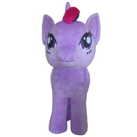 little Pony mascot costume Unicorn mascot costume Light Blue and purple Costume Character in four legs fancy dress for Hallowee