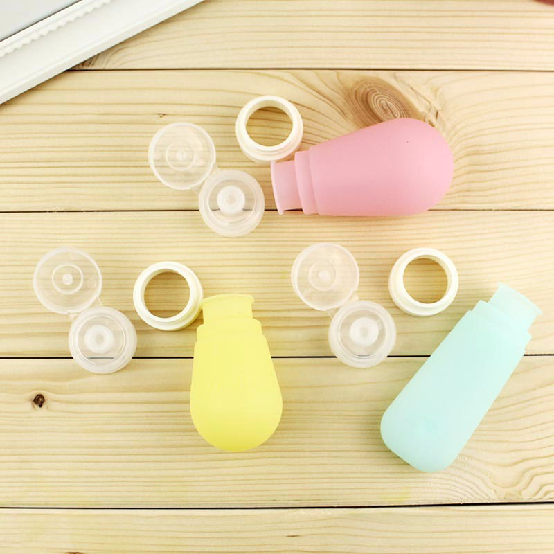 New Shampoo Shower Gel Lotion Sub-bottling Tube Squeeze Silicone Travel Bottles  89ml travel squeeze bottles