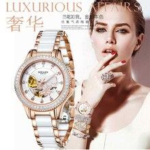 Reloj de cerámica de Regalo de Navidad Para Las Mujeres Movimiento Automático Relojes Con Impermeable Dames Horloge Señoras Relojes de Primeras Marcas de Lujo