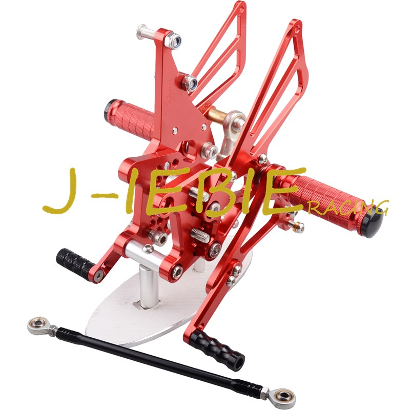 CNC Racing Rearset Adjustable Rear Sets Foot pegs Fit For Triumph T595 T509 955i SPEED TRIPLE 1050 RED