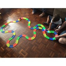 Magical Glowing Racing Flexible Track Set Children Bend 6cm Width Race Track Led Light Up Car Assembly Railway Road Toys DIY Toy