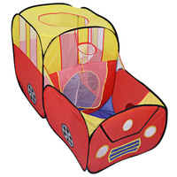 Portable Folding Outdoor Indoor Tent Children Playhouse Cartoon Car Shape Outdoor Indoor Play Toy Tents Ocean Ball Pit Playhouse