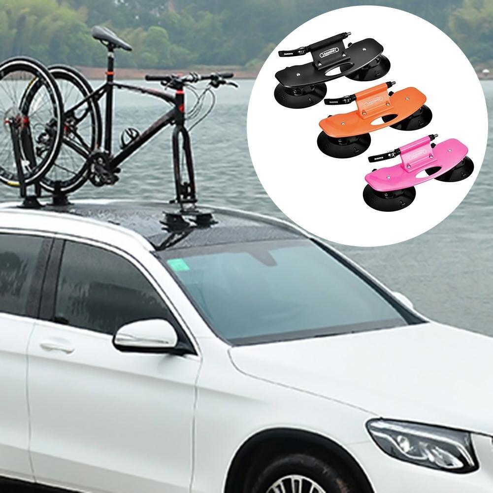 Алюминий сплава велосипед автомобилей несущей стойки крыши всасывания Быстрый Установка присоски крыша стойки для MTB горный велосипед дор