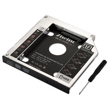 Zheino Aluminum 12.7mm 2nd HDD SSD Caddy 2.5 SATA to SATA Frame Caddy Case Adapter Bay For notebook Laptop CD/DVD-ROM Optibay