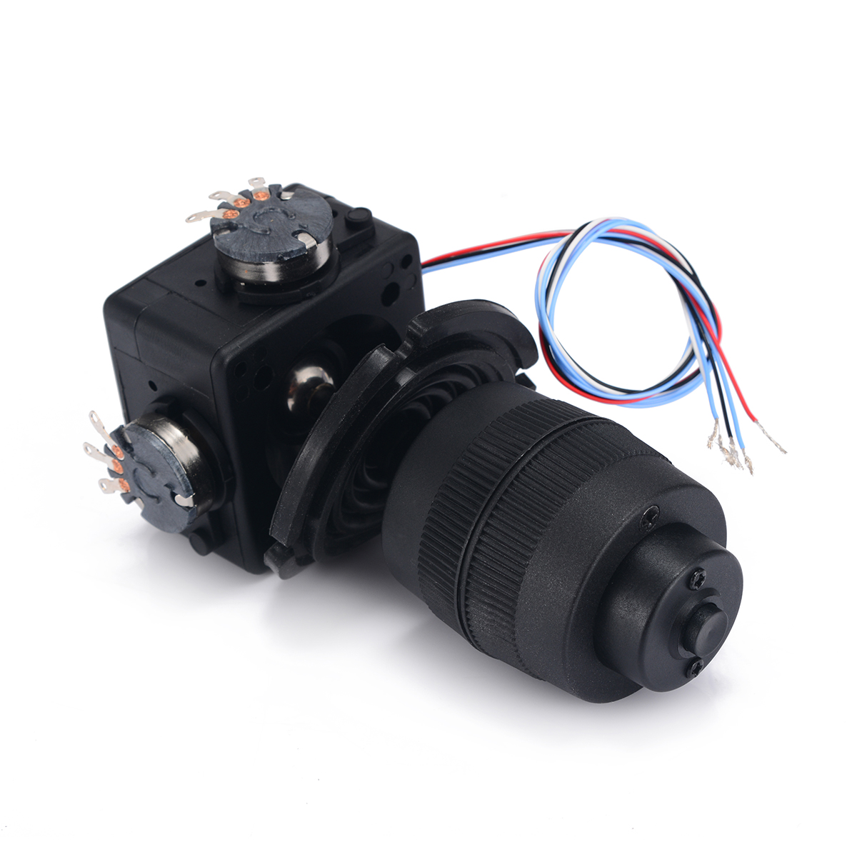 Durable Plastic 4-Axis Joystick Potentiometer Button For JH-D400X-R4 10K 4D Black with Wire Automatization Machine Control 1pc 4 axis plastic joystick potentiometer button for jh d400x r4 10k 4d with wire mayitr electric supplies tool