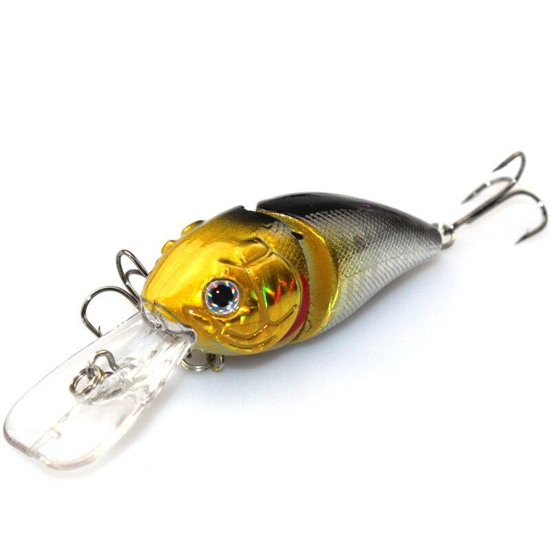 1 Unids 8.5 cm 14g 2 Segmentos Atraer A la Pesca Minnow Bamboleo iscas artificiais para pesca Crankbait Bass Bait Hook aparejos de pesca WQ249