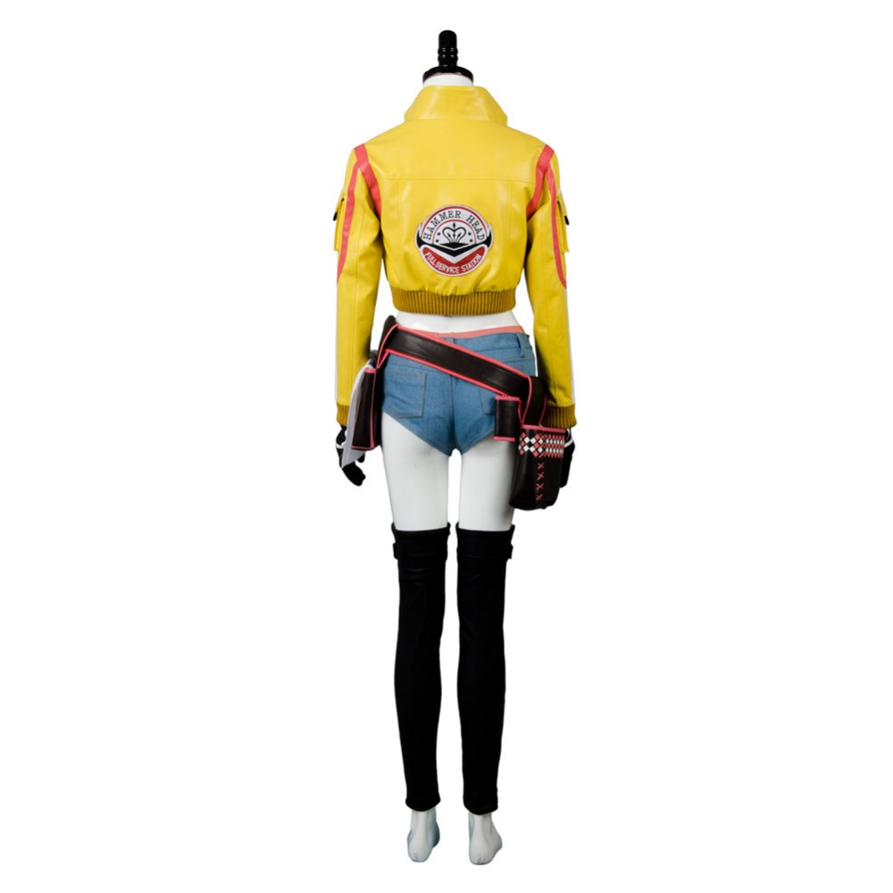 Final Fantasy Xv Cindy Aurum Gas Station Service Jacket Cosplay Fantasia T Shirt Pria Castlevania Death Costume Ff15 Woman Yellow Halloween Uniform Full Set In Anime Costumes From Novelty
