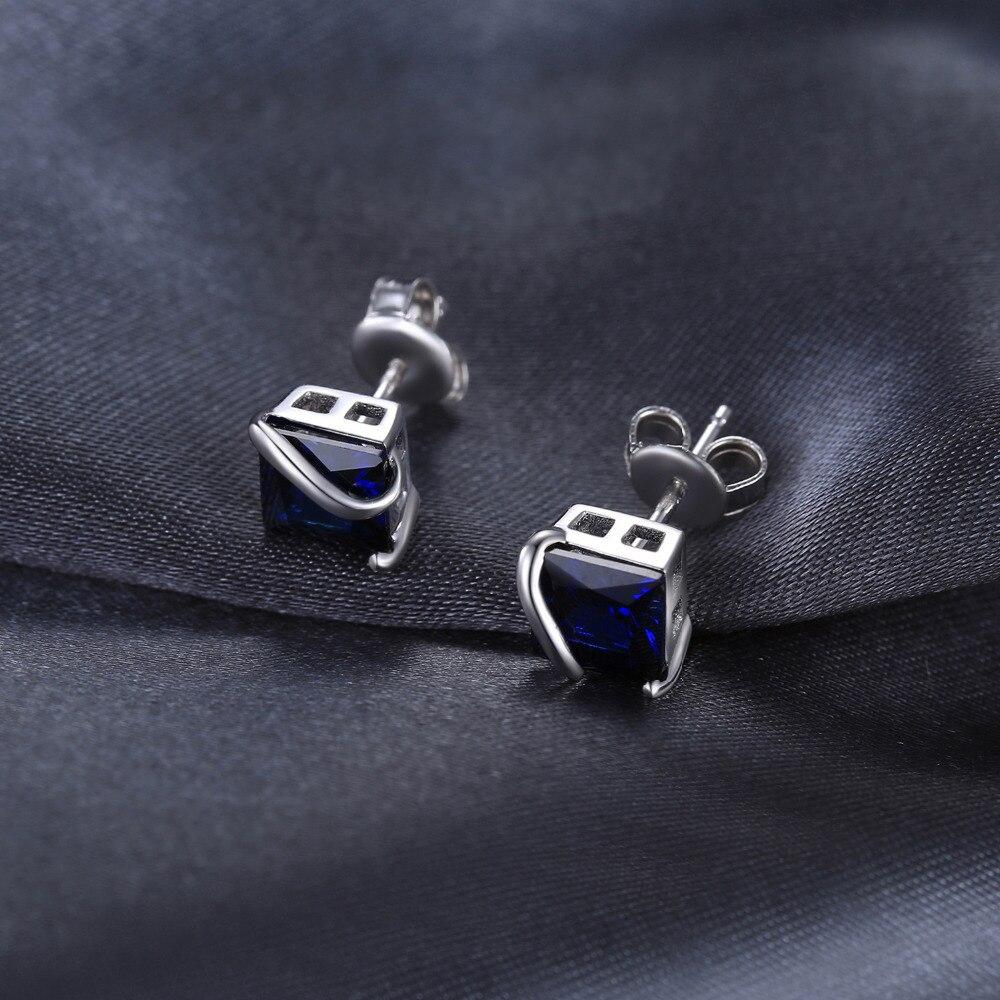 JewelryPalace Classic 2.8ct Ստեղծված Sapphire Stud - Նուրբ զարդեր - Լուսանկար 2