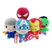 5 adet Süper Kahramanlar Avengers Batman Demir Adam Kaptan Amerika Ile Bleach Siyah Dul Superman Süper Adam Peluş Bebek Oyuncak enayi