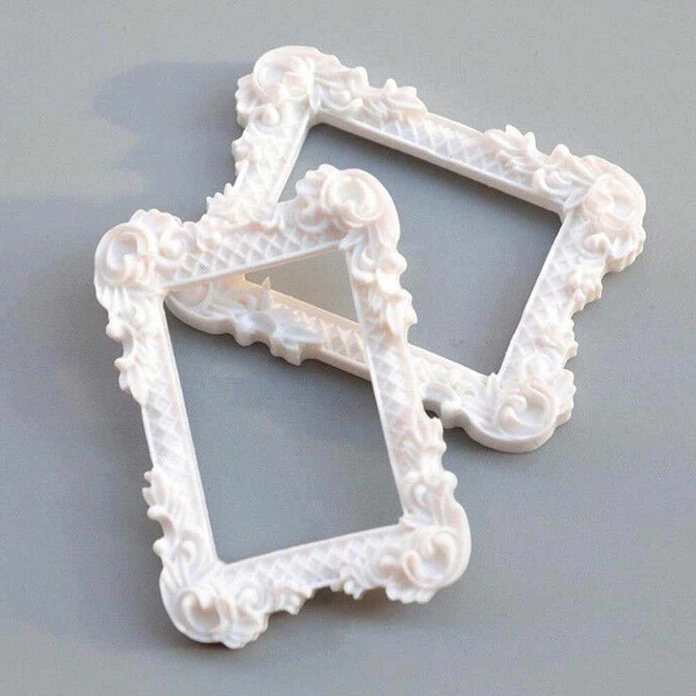 2PCS Album Photo Frame Mini Doll House Painting Furniture Miniature Art Crafts Display Home Decor Resin Gift Image Picture