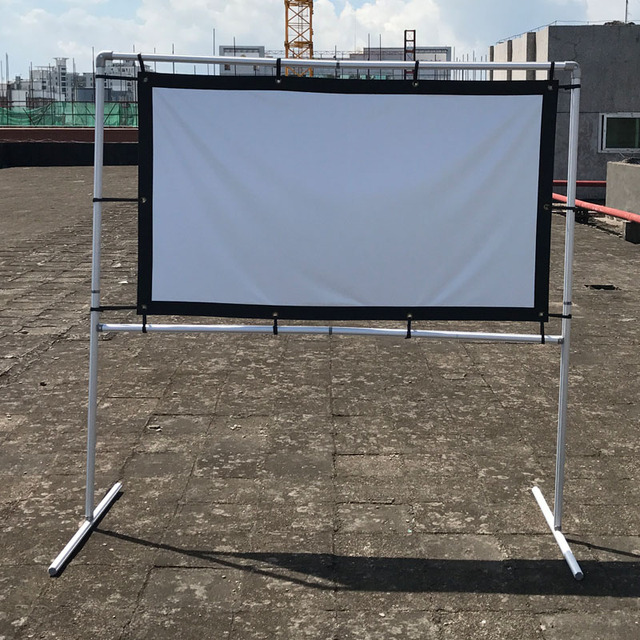 Factory Direct Simple Wrap Fabric 100 inch Roll Up Projection Screen ...