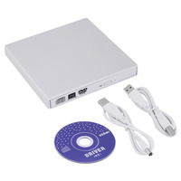 Super Slim USB 2.0 Externe CD +-RW DVD +-RW DVD-RAM Graveur Lecteur Pour Ordinateur Portable PC Promotion Blanc Noir Livraison Gratuite