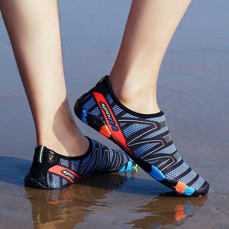 2018 Men Outdoor Sneaker Shoes for swimming pool shoes women fishing aqua water shoes diving wading barefoot beach shoes 45
