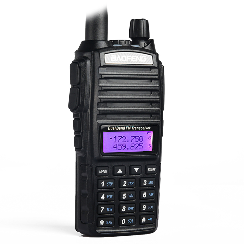 2pcs walkie talkie BaoFeng UV-82 8W Dual-Band 136-174/<font><b>400</b></font>-520 <font><b>MHz</b></font> FM Ham Two way Radio UV82 interphone walkie talkie Transceiver image