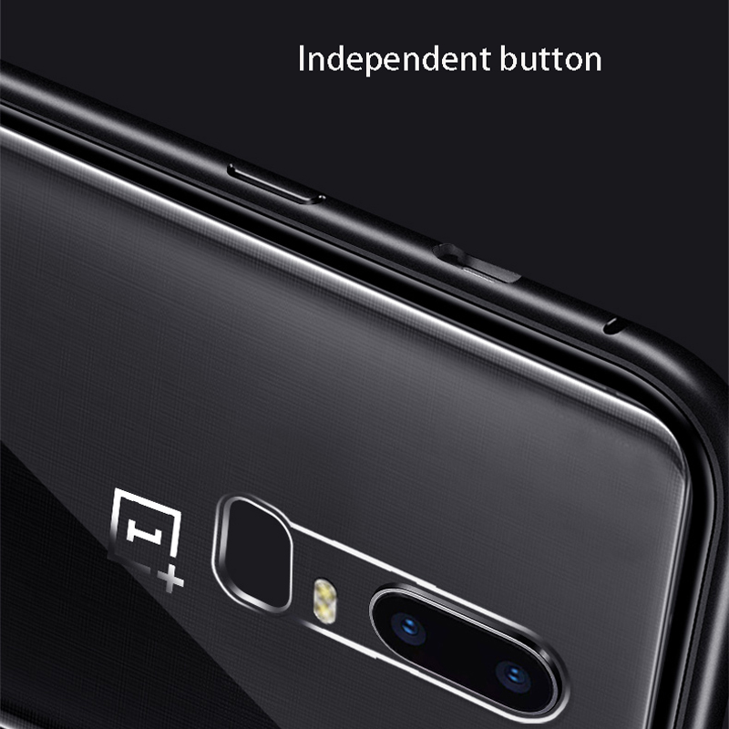 Image 5 - Magnetic Adsorption Phone Case For OnePlus 7 Pro One Plus 6T Tempered Glass Back Cover For Oneplus 6 5T Luxury Metal Clear Case-in Flip Cases from Cellphones & Telecommunications