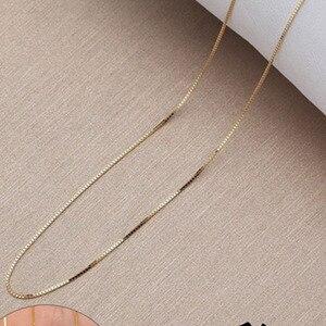 Женская цепочка с подвеской ANI, цепочка из белого золота 18 К (AU750), 3 цвета, 16 или 18 дюймов