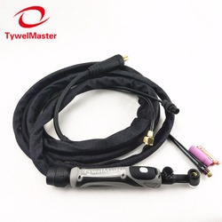 WP17-FV TIG Welding Torch GTAW Tungsten Arc WP17 Argon 3.7m 12.1ft Air Cooled WP-17 Flexible Neck Gas Valve TIG Torch