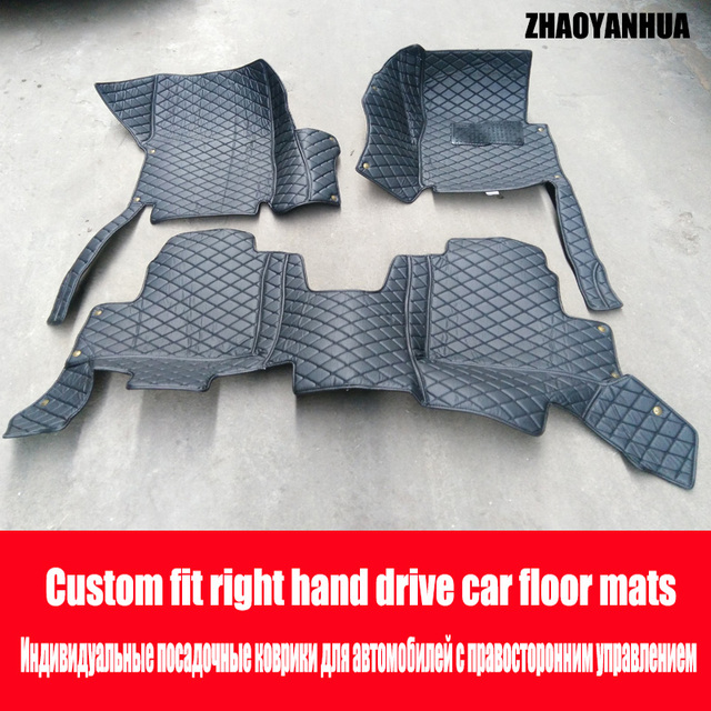 ZHAOYANHUA Right hand drive car car floor mats Case for Peugeot 206 ...