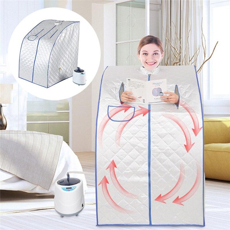 Портативная Паровая сауна с парогенератором мощностью 2л потеря веса калории ванна спа расслабляет уставшую сауну