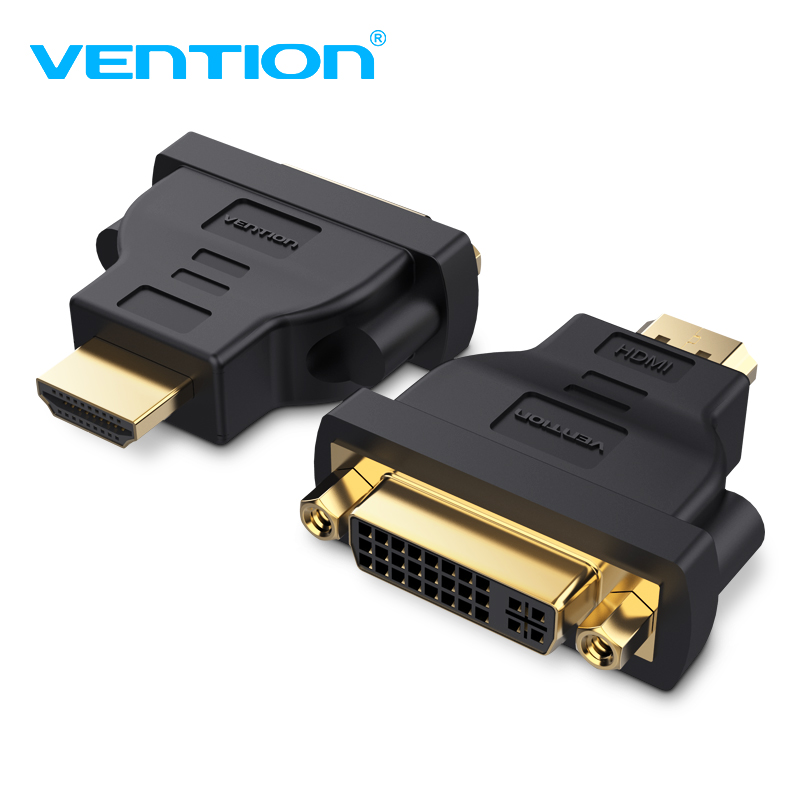 Vention Dvi To Dvi 24+5 Adapter Male To Female 2560p Hdtv Converter For Pc Projector Tv Box Digital Cables