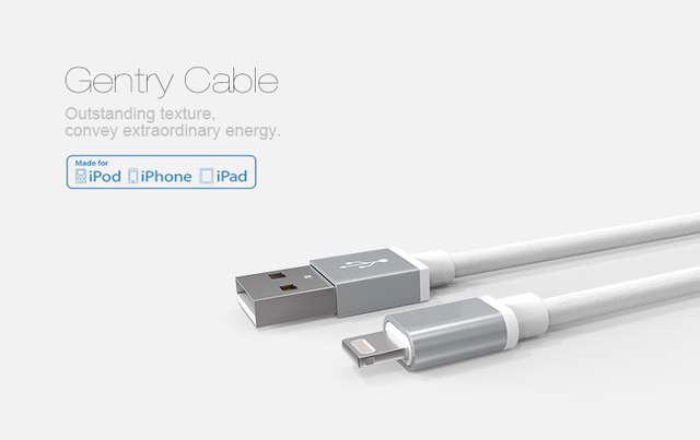 Nillkin gentry certificação mfi cabo para ios apple para dispositivos de porta relâmpago para apple iphone 8/ipad/ipod/iphone 6/6 s plus