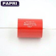 FT 10 PCS 400VDC 8 UF Audiophiler Axial MKP Polipropileno NÃO-Polarizado HIFI DIY Capacitor Série de Áudio Para Tubo amplificador de guitarra