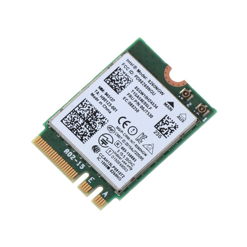 Tablet-Intel Wireless-AC 8260 Dual-band Card Wifi Bluetooth For Lenovo ThinkPad YOGA IBM 00JT480 00JT382 00JT530 00JT532
