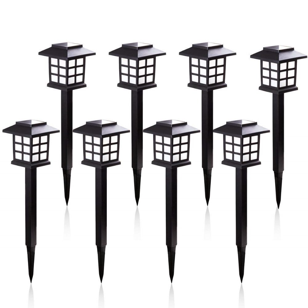 8pcs/lot Led Outdoor Solar Pathway Lights Waterproof Solar Lights For Garden/Landscape/Path/Yard/Patio/Driveway/Walkway