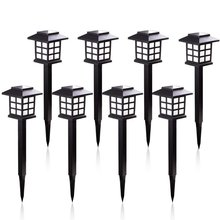 8 шт./лот светодиодная уличная лампа на солнечной батарее для дорожек, водонепроницаемые солнечные фонари для сада/ландшафта/дорожек/двора/...