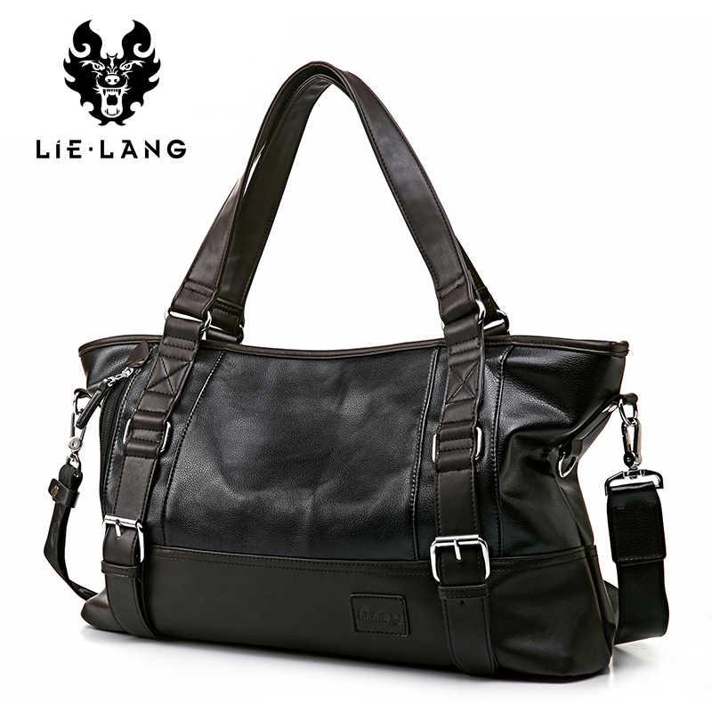 LIELANG, дорожная сумка для мужчин, высокое качество, из искусственной кожи, мужские сумки через плечо, Bolsa Masculina, мужская сумка для багажа на плечо, мужская сумка