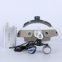 2.5X / 3.5X Dental Surgical Loupe Surgery Operation Surgical Helmet Magnifier with LED Head Light