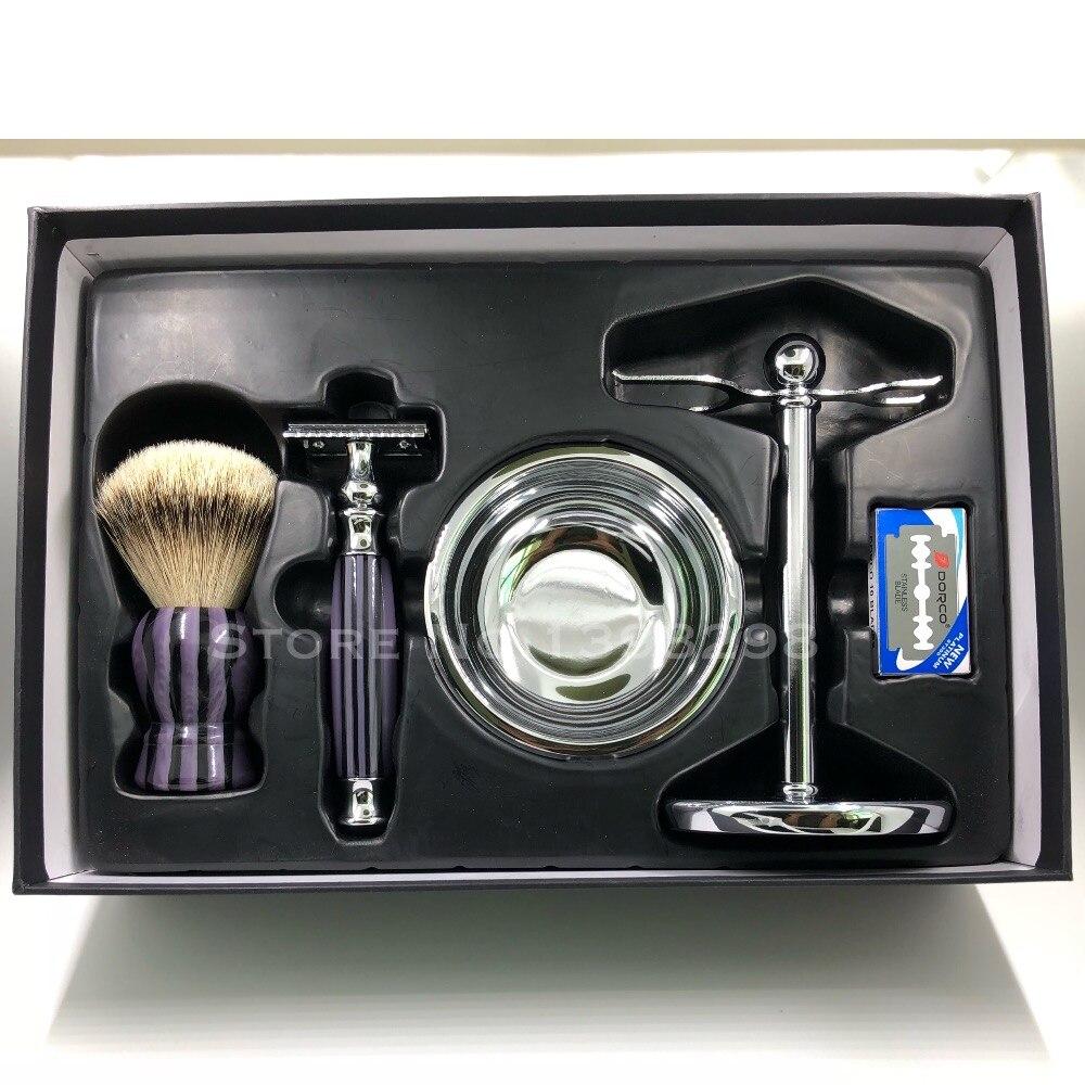 CSB Silvertip Badger Hair Shaving Brush Gift Set Knot 20mm with 10 BladesCSB Silvertip Badger Hair Shaving Brush Gift Set Knot 20mm with 10 Blades