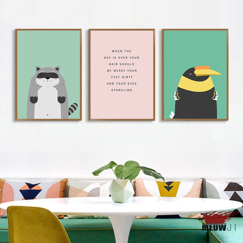 Posters art printed canvas painting for living room nordic - Cute colors to paint your room ...