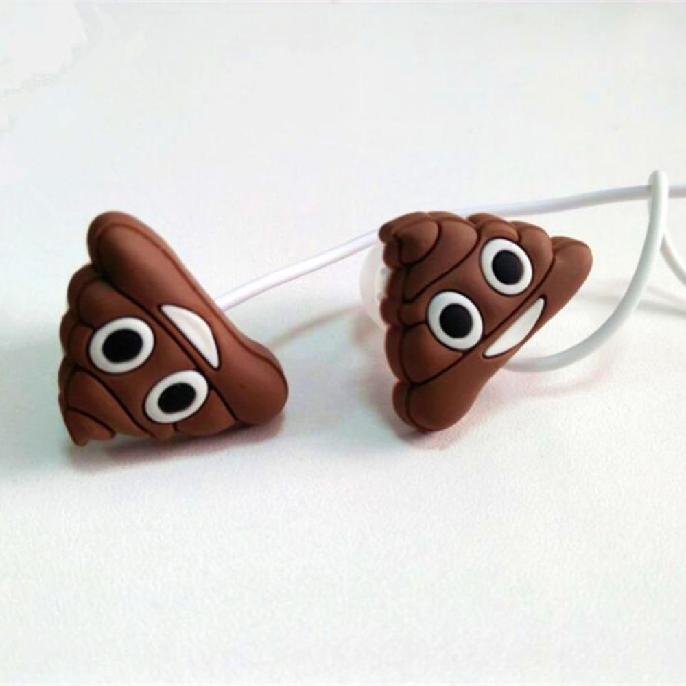 Cute emoji Poo Poop Cartoon Earphones In-ear Earphone 3.5mm Earbuds With Mic For Xiaomi Smartphone Kids Gifts футболка toy machine poo poo head face brown